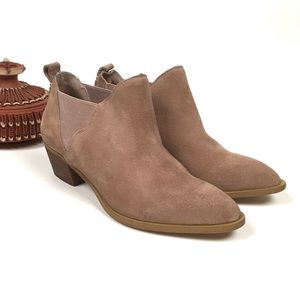 Sole Society Nancy Ankle Bootie Blush Suede Sz8